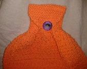 Orange Knitted Dish Towel
