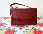 Miss Beau vintage burgundy handbag