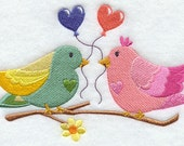 Hand Towel / Flour Sack towel - Love is in the Air Embroidery Design