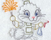 Flour Sack Towel - Days of the Week Spring Cleaning Animals Embroidery Design-2