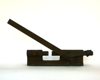 Antique Nut Cracker. Primative Nut Cracker. Rustic. Industrial. Brown Iron. Housewares. Kitchen Tool. Farmhouse.