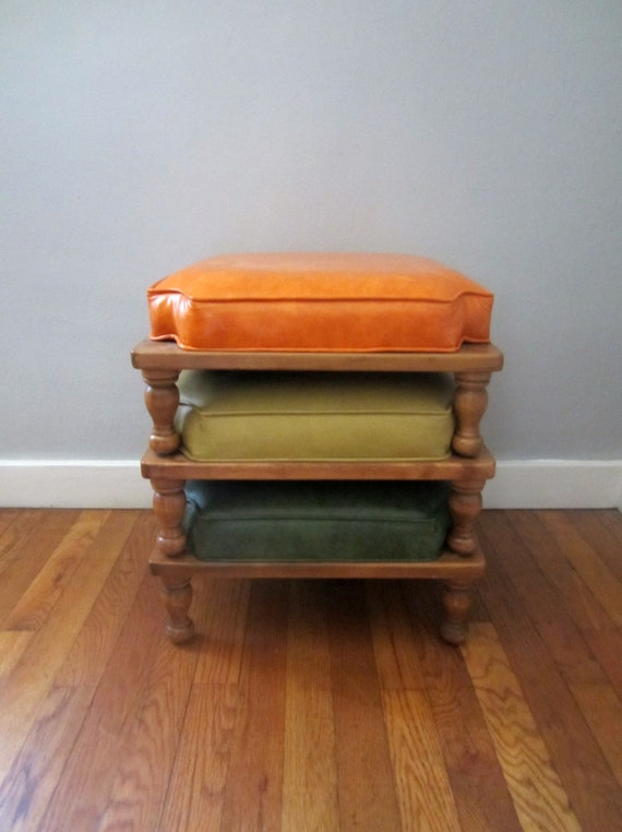 Reserved Mid Century Stackable Foot Stools