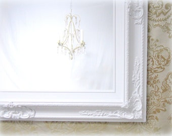 WHITE VANITY MIRROR For Sale Baroque Framed White Mirror French Country Home Decor 31
