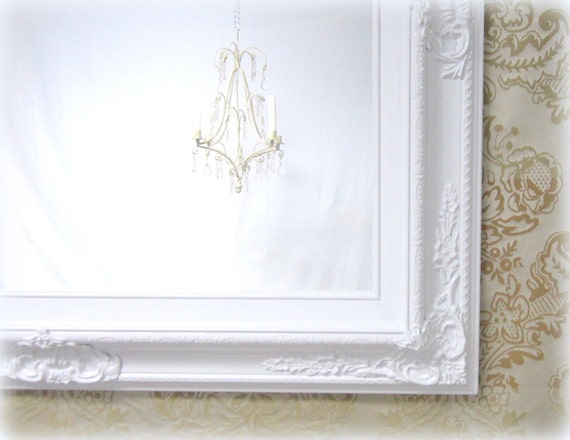 white vanity mirror for sale baroque framed white framed On white framed mirrors for sale