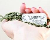 Absinthe Lip Balm, Anise Vanilla Artemisia, Organic, Wildcrafted, .25 oz sliding-tin