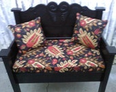 One of a Kind Bench with a cushion and 2 Pillows