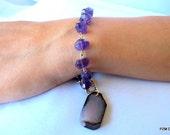 Amethyst tennis bracelet, purple gemstone line bracelet, fine jewelry gift