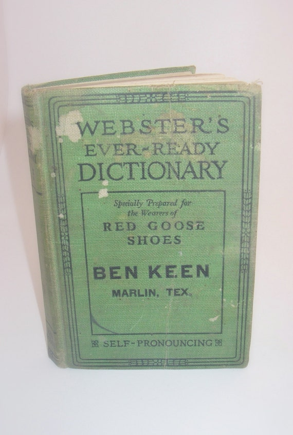 Red Goose Shoes Dictionary - 1926 Webster's Ever-Ready Sears & Company Promotional
