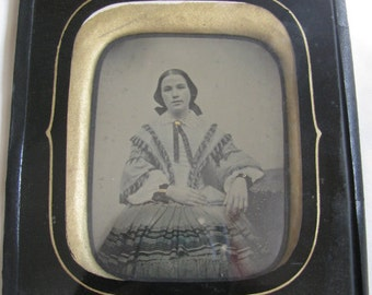 1855 French Ambrotype Passe Partout Frame