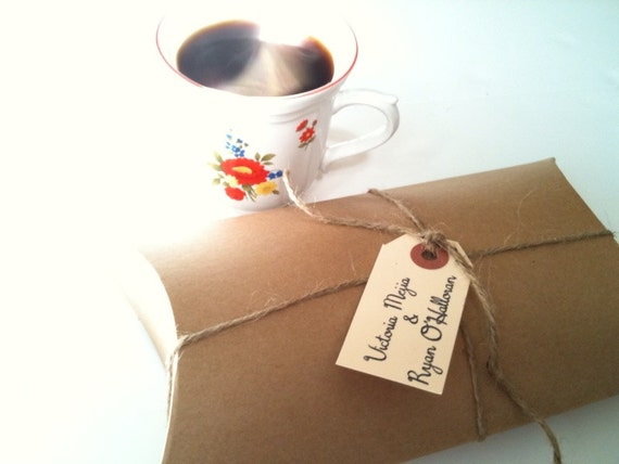 RESERVED. Perfectly Unique Bridal Shower Favors. Freshly roasted coffee favors by Apropos Roasters