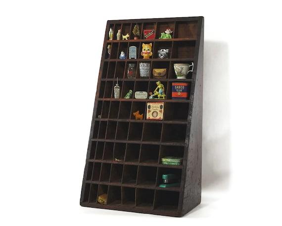 Vintage Letterpress Furniture Case, Divided Parts Bin, Industrial Decor, Display Shelf