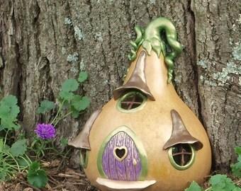 Fairy Door, Fairy House, custom fairy house, Gourd, Spring, mother