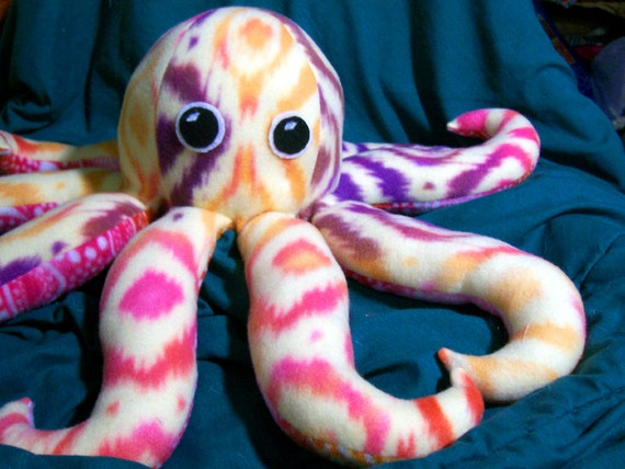Octopus Pattern Plush Customizable Octopus Plush
