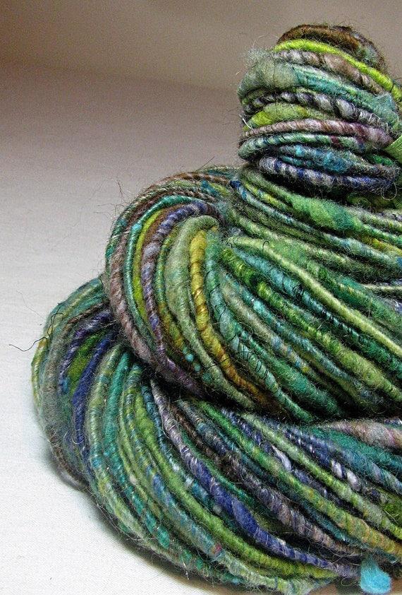 Handspun Art Yarn Corespun  Sheeping Beauties 'Sea Dreaming'