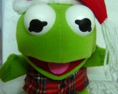 Merry Christmas Kermit the Frog Stuffed Animal Promotional McDonald's Toy