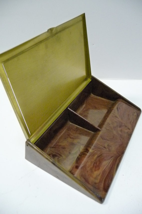 Vintage business card holder B&B St Paul fice by
