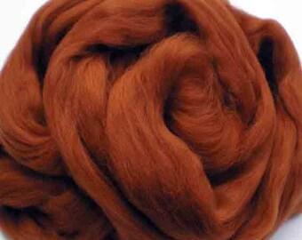 "Ashland Bay Solid Colored Merino for Spinning or Felting ""Nutmeg""  4 oz."