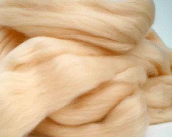 "Ashland Bay Solid Colored Merino for Spinning or Felting ""Vanilla""  4 oz."