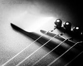 Acoustic Bridge : guitar photo black white macro photography musical instrument monochrome surreal home decor 8x10 11x14 16x20 20x24 24x30
