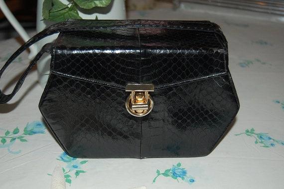 BASS Vintage Python Purse Retro Novelty Bag at Retro Daisy Girl
