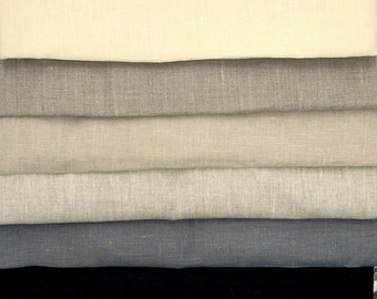 Pure LINEN fabric Neutral colors Fat Quarters eco friendly sewing supplies home decor from MyGypsyCottage on Etsy