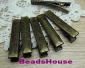 5%off HC-13-1-At  150pcs 35mm Antique Bronze Plated Hair Clip, NICKEL FREE