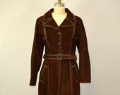 Vintage suede jacket / autumn fashion / chocolate brown