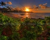 "Fine Art Photography - Hawaiian Photography - Photo Art - Sunrise - Kauai - Hawaii - 16 X 24"" - Prints"