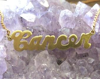 Cancer Astrological Sign Necklace