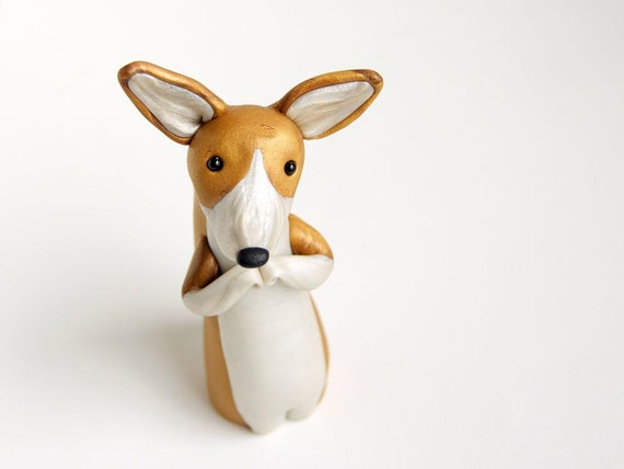 Pembroke Welsh Corgi Figurine by Bonjour Poupette