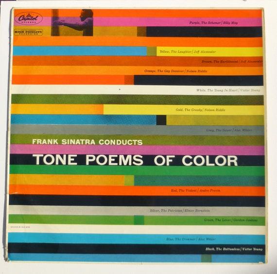 RESERVED         Saul Bass Album Cover - Frank Sinatra Conducts Tone Poems of Color