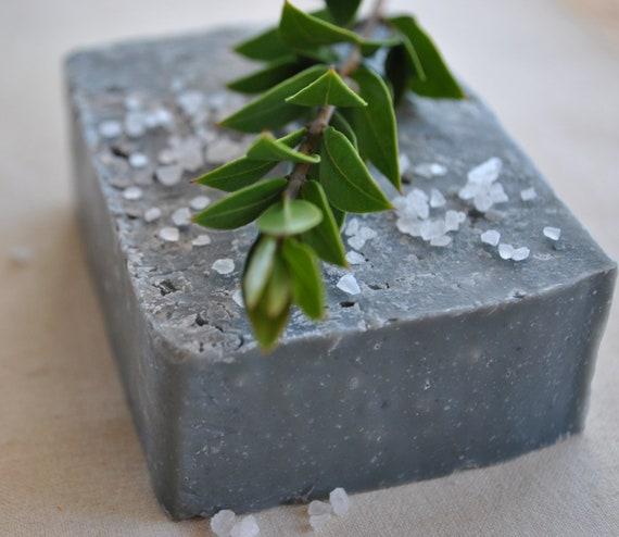 BOGO Charcoal Soap-Sea Salt Soap-Cold Process Soap-Activated Charcoal Soap- Bamboo Sugarcane