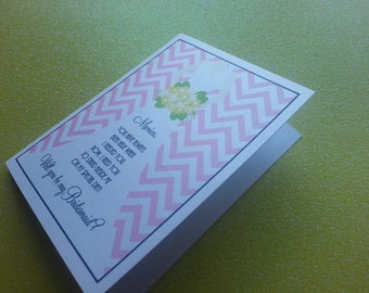 Peaceful- Will You Be My Bridesmaid... Cards