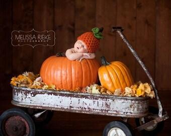 Chunky Pumpkin Newborn Knot Hat