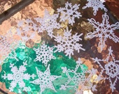 12 Beautiful One Of a Kind Crocheted Snowflakes (A8A)