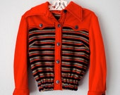 vintage toddler girl red rainbow sweater/sweatshirt - 3RingCircus
