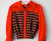 vintage toddler girl red rainbow sweater/sweatshirt - 3RingCircus