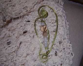 Scarf Jewelry...A Pin.......Shawl Holder...Scarf Holder...Soft Green