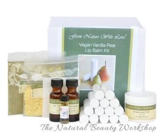 Vegan Vanilla Pear Lip Balm Craft Kit