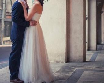 Custom size New white/ivory corset wedding dress - Nataly Dream