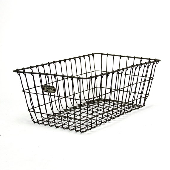 x-large vintage industrial locker basket