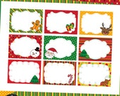 DIY Printable Christmas Labels - Christmas Cheer with Stitched Christmas Clipart