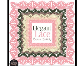 Square Frames - Elegant Lace - Lovers' Lullaby