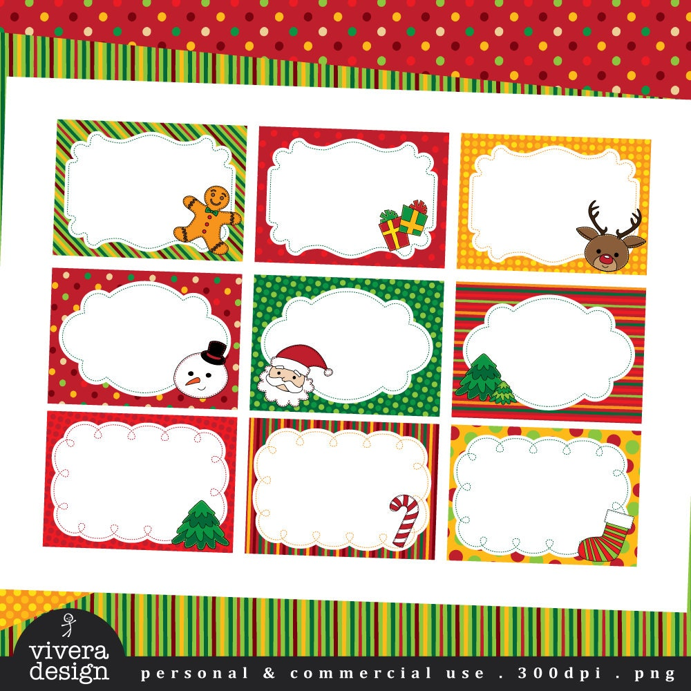 DIY Printable Christmas Labels Christmas Cheer With Stitched