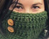 Cowl Crochet Neck Warmer Scarf