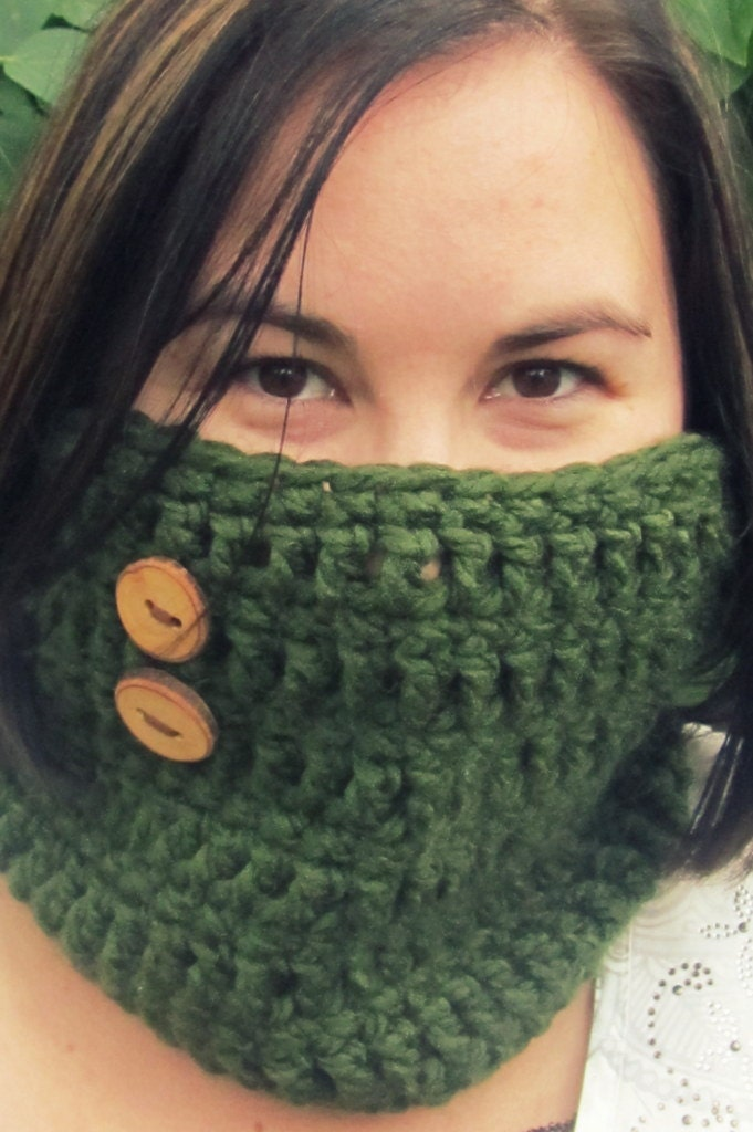 Cowl Crochet Neck Warmer Scarf by TheCrazyCuteShop on Etsy Cowl Neck Scarves Crochet