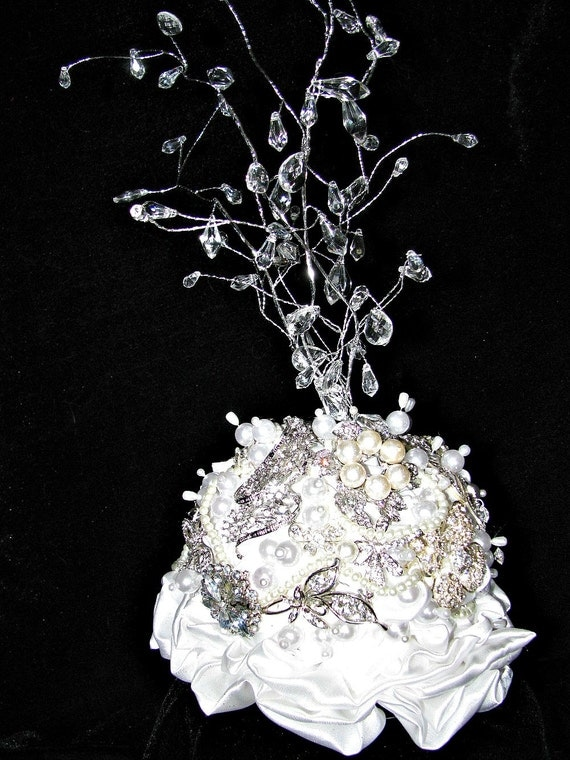 Custom Brooch Bouquet Wedding Cake Topper Or By Thealteredchick