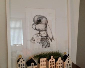 She-Rabbit Giclee 8x10 in. Art Print