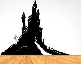 Vinyl Wall Decal Sticker Haunted House OSMB656s