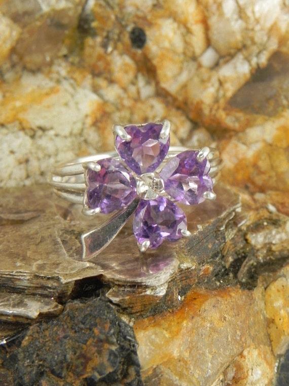 Genuine Amethyst Sterling Ring